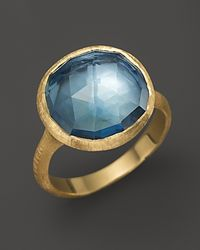 "Marco Bicego | Blue Topaz 18k Yellow Gold ""jaipur"" Ring 