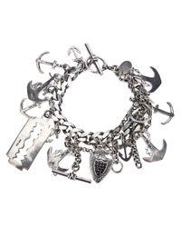 Mawi | Metallic Anchor Charm Bracelet for Men | Lyst