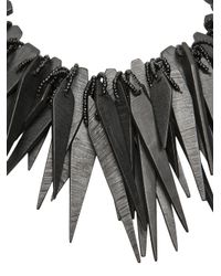 Monies - Black Spiked Necklace - Lyst