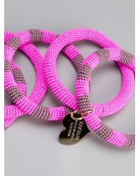 Boutique Moschino | Pink Afreaka Bangle | Lyst