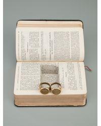 Munoz Vrandecic Metallic Double Ring for men