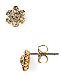 Nadri | Metallic Crystal Flower Stud Earrings | Lyst