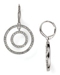 Nadri | Metallic Flower Swirl Earrings | Lyst