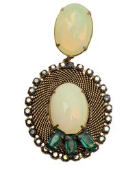Nicole Romano - Metallic 'Lacerta' Oval Clip-On Earrings - Lyst