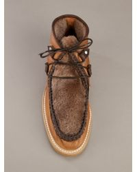 Opening Ceremony - Brown Shearling Boot for Men - Lyst