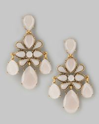Oscar de la Renta | Natural Faceted Chandelier Earrings Petal | Lyst