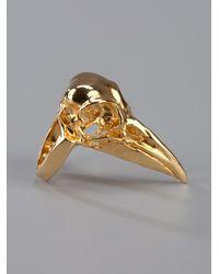 Pamela Love - Metallic Bird Skull Ring - Lyst