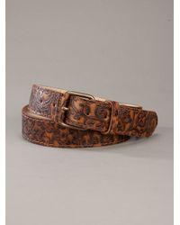 Paul & Joe - Brown Patterned Belt for Men - Lyst