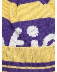 Penfield - Yellow Sanford Logo Bobble Beanie - Lyst