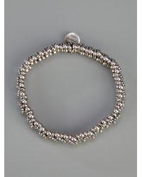 Philippe Audibert - Metallic Flower Ball Bracelet - Lyst