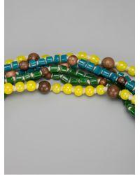 Rada' - Multicolor Beaded Tassel Necklace - Lyst
