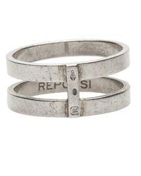 Repossi - Metallic Double Layer Berbere Ring - Lyst
