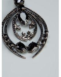 Roberto Cavalli - Black Embellished Earrings - Lyst