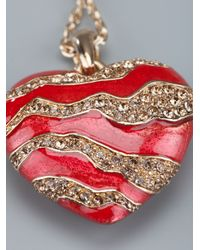 Roberto Cavalli - Red Heart Necklace - Lyst