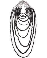 Rosantica   Black Beaded Necklace   Lyst