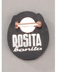 Rosita Bonita - Black Horseshoe Brooch - Lyst