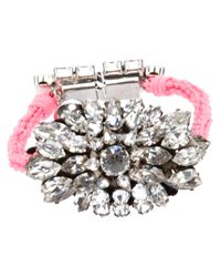 Shourouk | Metallic Crystal Embellished Braided Bracelet | Lyst