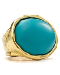 T Tahari - Metallic Oval Stretch Ring - Lyst