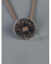 Vanrycke - Brown Eternal Love Necklace for Men - Lyst