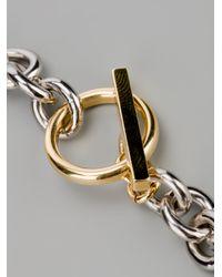 Vionnet - Gray Dome Pendant Necklace - Lyst