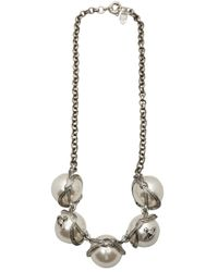 Vivienne Westwood | White Grosgrain Giant Pearl Necklace | Lyst
