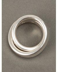 Werkstatt:münchen | Metallic Double Ring for Men | Lyst