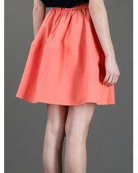 Carven - Orange A Line Skirt - Lyst