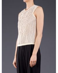 Carven - White Rope Tank - Lyst