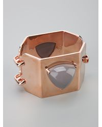 Eddie Borgo - Metallic Gemstone Three Sided Pyramid Cuff - Lyst
