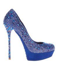 Gianmarco Lorenzi | Blue Crystal Embellished Pump | Lyst