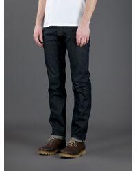 Golden Goose Deluxe Brand Blue Raw Slim Leg Jeans for men