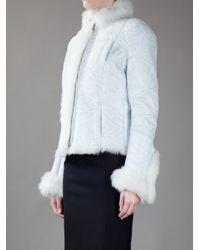 John Richmond - White Leather Jacket - Lyst