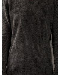 Label Under Construction - Black Wool Sweater for Men - Lyst