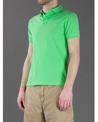 Polo Ralph Lauren Green Slim Fit Polo Shirt for men