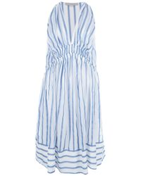 Vanessa Bruno | Blue Striped Dress | Lyst