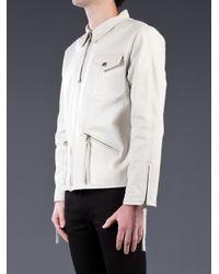 Victorious 22 - Natural Salt Cafã Racer Jacket for Men - Lyst