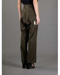 Y's Yohji Yamamoto - Natural Wide Leg Cargo Trouser - Lyst