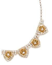 BaubleBar - Metallic Gilded Rose Collar - Lyst