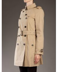 Burberry - Natural Trench Coat - Lyst