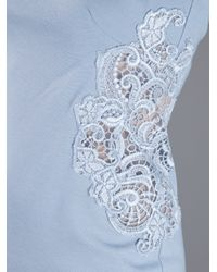 Ermanno Scervino - Blue Lace Insert Dress - Lyst