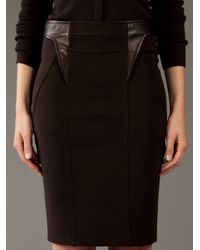Givenchy | Brown Ponte Pencil Skirt | Lyst