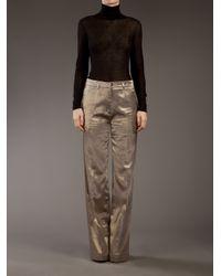 Haider Ackermann | Metallic Flared Trouser | Lyst