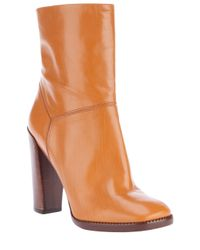 Marc By Marc Jacobs | Brown Block Heeled Boots | Lyst