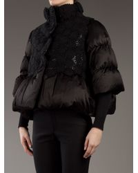 Moncler Gamme Rouge | Black Silk Padded Jacket | Lyst