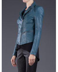 Muubaa - Blue Leather Jacket - Lyst