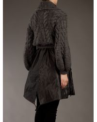 Sacai - Gray Two Piece Coat - Lyst