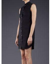 T By Alexander Wang - Black Poplin Shirt Dress - Lyst