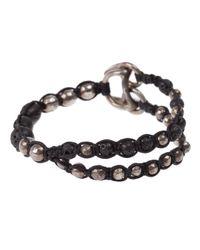 Tobias Wistisen   Black Beaded Bracelet for Men   Lyst