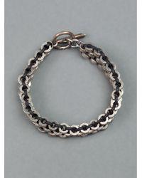 Tobias Wistisen - Black Multi Ring Bracelet for Men - Lyst