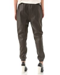 3.1 Phillip Lim | Black Leather Sweatpants | Lyst